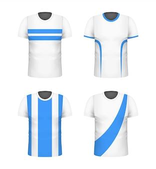 Conjunto de camiseta blanca con estampado azul