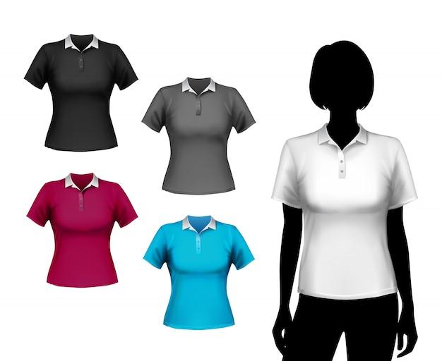 Conjunto de camisetas femeninas