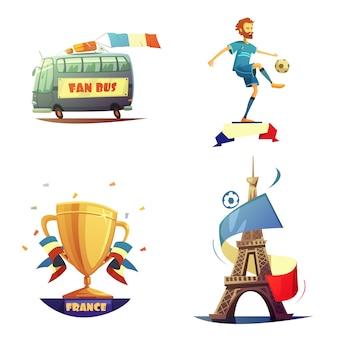 Conjunto de campeonato de futbol