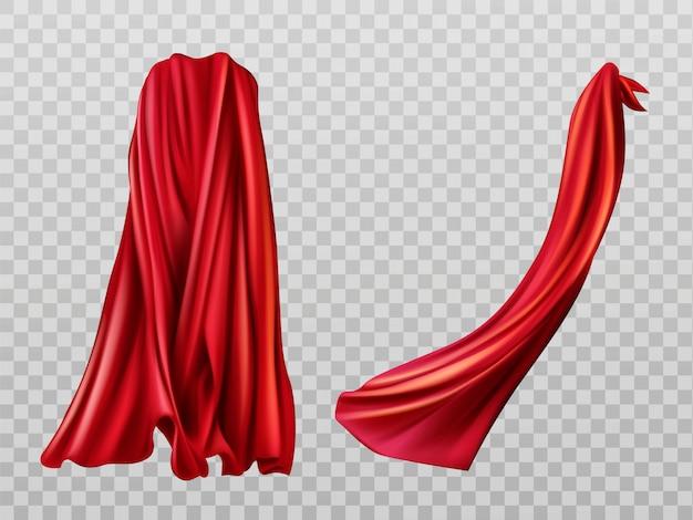 Conjunto de capas rojas