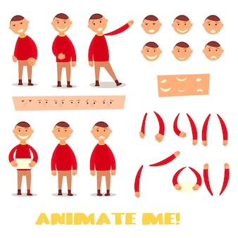 Conjunto de caracteres del alumno para tus escenas.