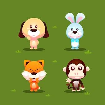 Conjunto de caracteres animales