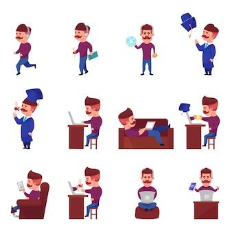 Conjunto de caracteres de aprendizaje en línea