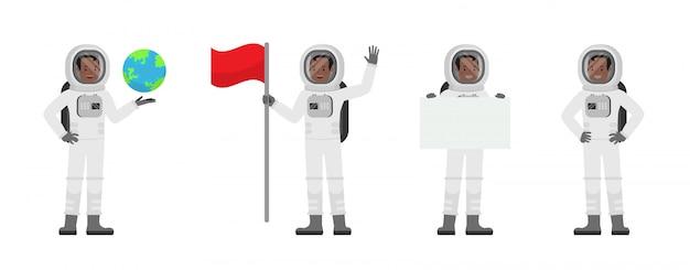Conjunto de caracteres de astronauta