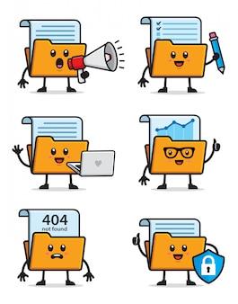 Conjunto de caracteres de la carpeta de documentos