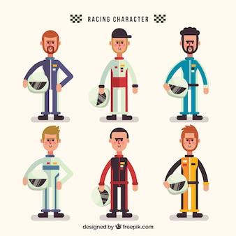 Conjunto de caracteres de carreras