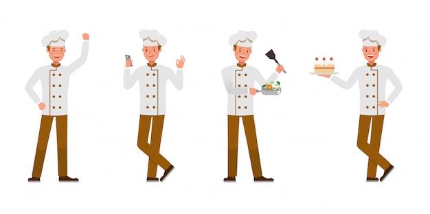 Conjunto de caracteres del chef