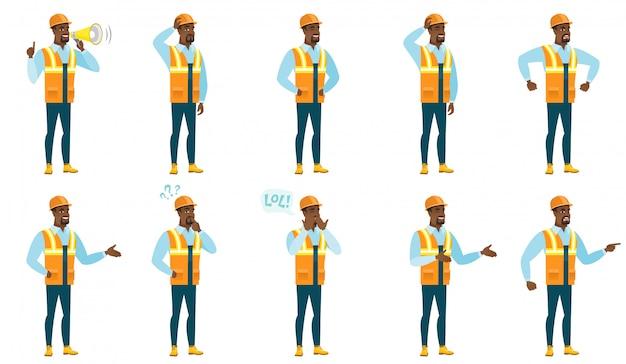 Conjunto de caracteres constructor.