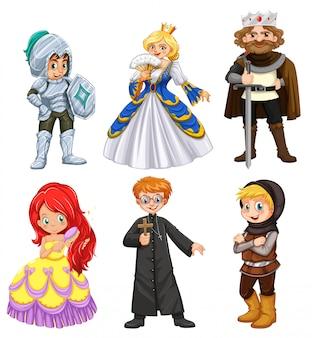 Conjunto de caracteres diferentes