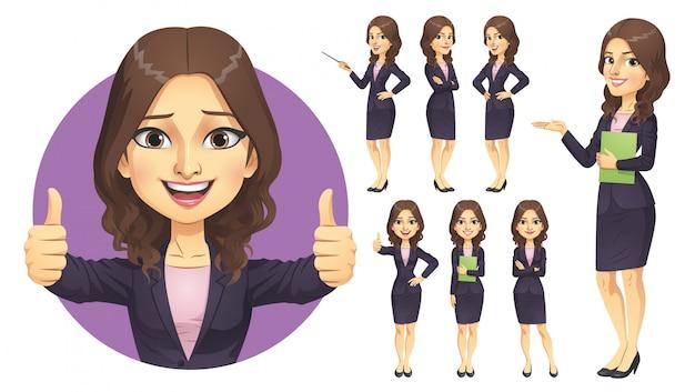 Conjunto de caracteres de empresaria