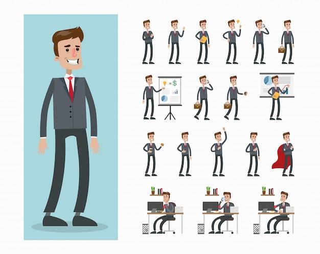 Conjunto de caracteres del empresario.