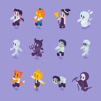 Conjunto de caracteres de halloween