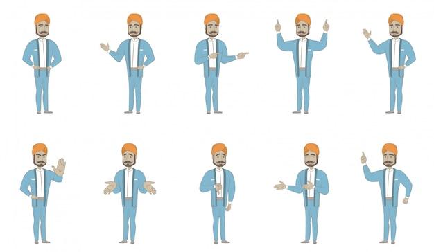 Conjunto de caracteres del hombre indio