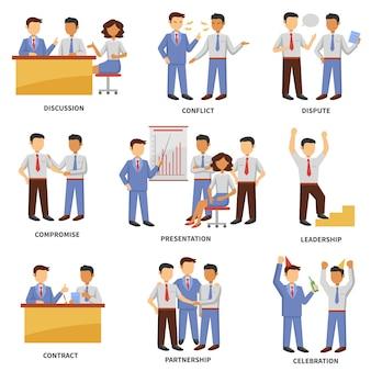 Conjunto de caracteres de negocios