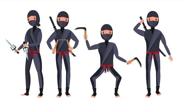 Conjunto de caracteres ninja