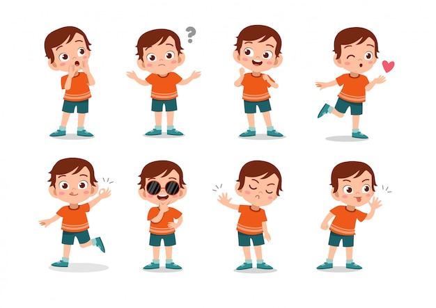 Conjunto de caracteres de niños