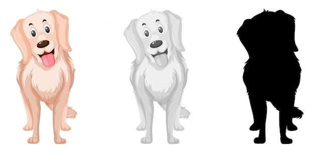 Conjunto de caracteres de perro