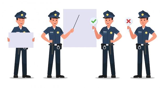 Conjunto de caracteres policiales