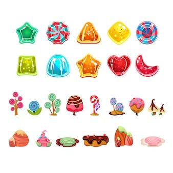 Conjunto de caramelos