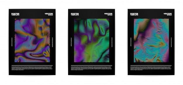 Conjunto de carteles abstractos modernos