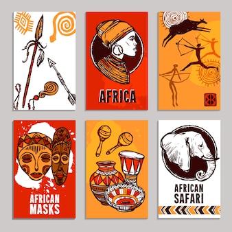 Conjunto de carteles de áfrica