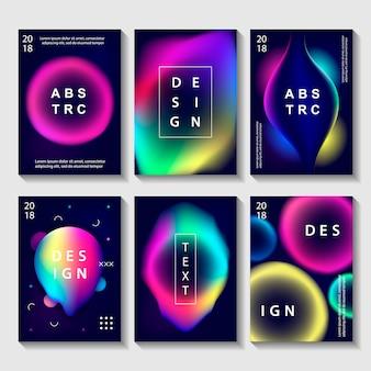 Conjunto de carteles de diseño creativo