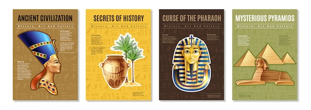Conjunto de carteles de egipto