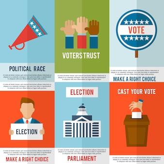Conjunto de carteles electorales
