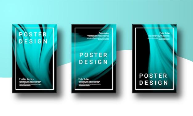 Conjunto de carteles de fondo abstracto