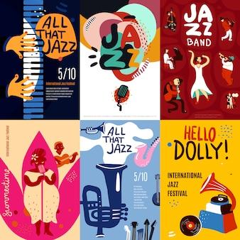 Conjunto de carteles de jazz