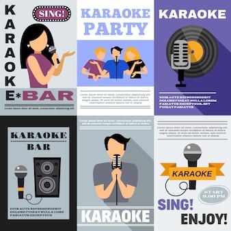 Conjunto de carteles de karaoke