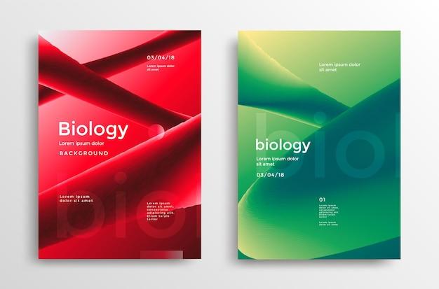 Conjunto de carteles modernos de biología.