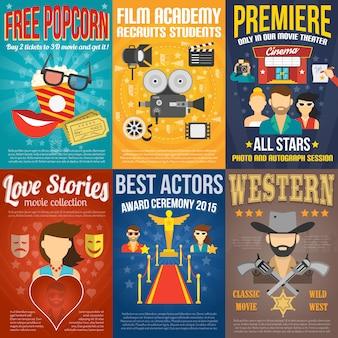 Conjunto de carteles de películas