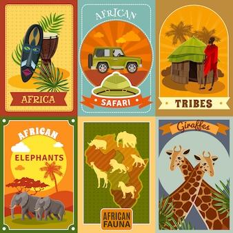 Conjunto de carteles de safari