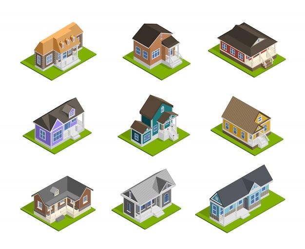 Conjunto de casas de pueblo