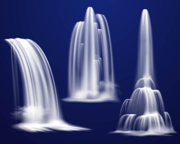 Conjunto de cascadas realistas