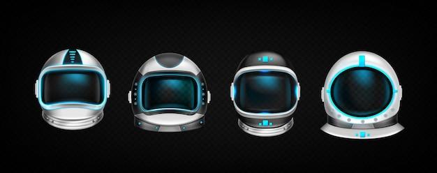 Conjunto de cascos de astronauta