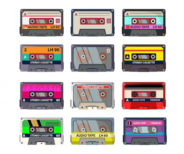 Conjunto de casetes retro