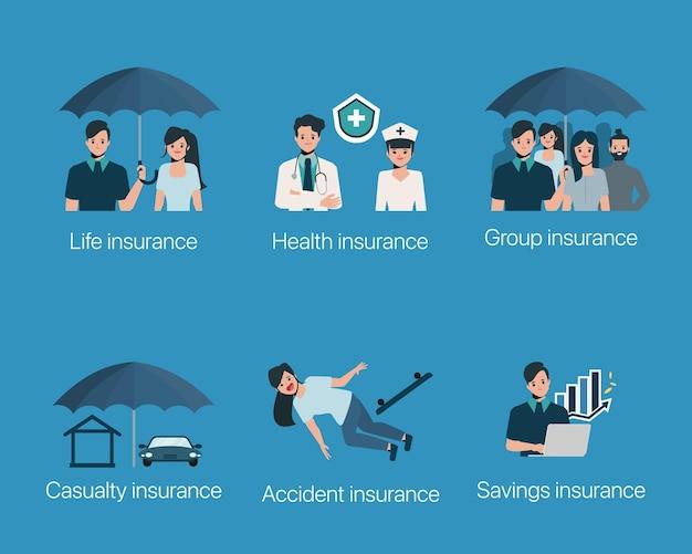 Conjunto de casos de protección de seguros