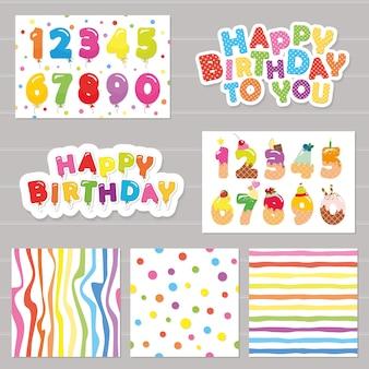 Conjunto de celebración de cumpleaños