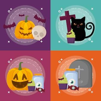 Conjunto de celebración de halloween