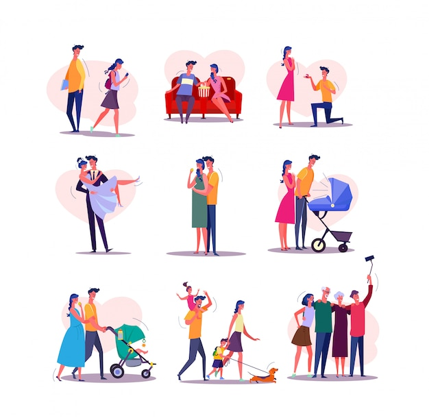 Conjunto de ciclo de vida familiar