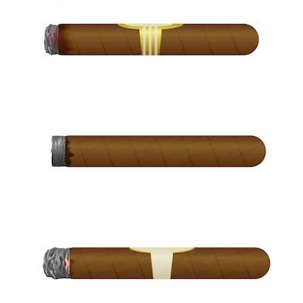 Conjunto de cigarros cubanos.