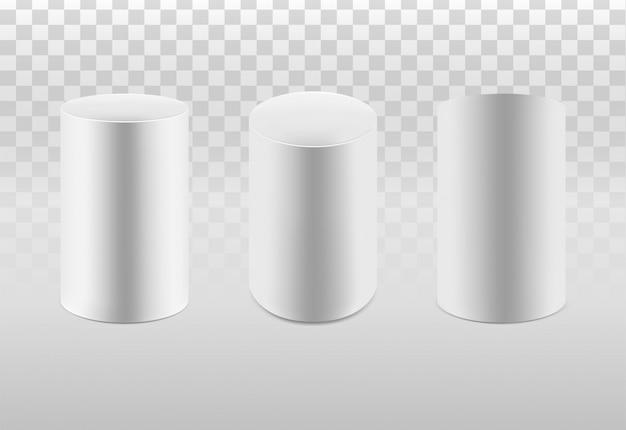 Conjunto de cilindros blancos