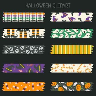 Conjunto de cinta aislada de halloween