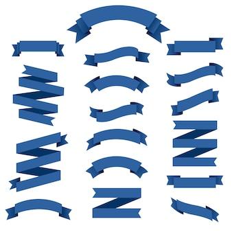 Conjunto de cinta azul