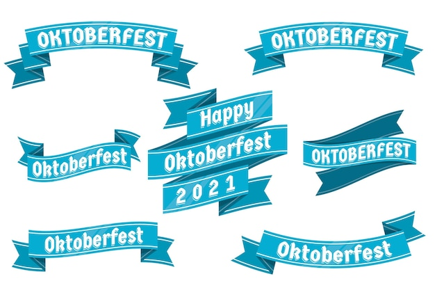 Conjunto de cintas de oktoberfest