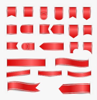 Conjunto de cintas rojas