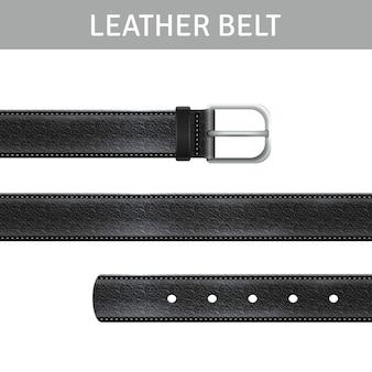Conjunto de cinturón de cuero