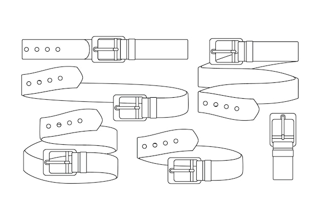 Conjunto de cinturones de cuero